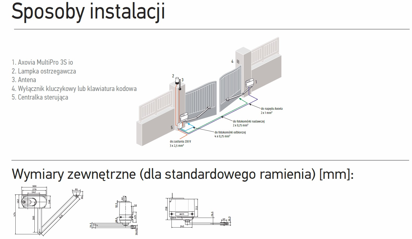 instalacja brama dwuskrzydłowa